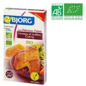 SALADE & PLAT VÉGÉT BJORG Palets Céréales Lentilles Curry Bio 200g