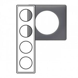 Legrand LEG98870 C/éliane2 Plaque avec 2 postes Schiste