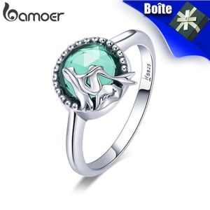 BAGUE - ANNEAU BAMOER Bague pour femmes avec vert cristal Zircon