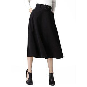 JUPE jupe longue évasée à taille haute pour femmes 1UPM