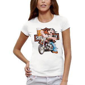 Filles Harley Davidson rose tshirt Cette princesse porte des bottes de moto taille M
