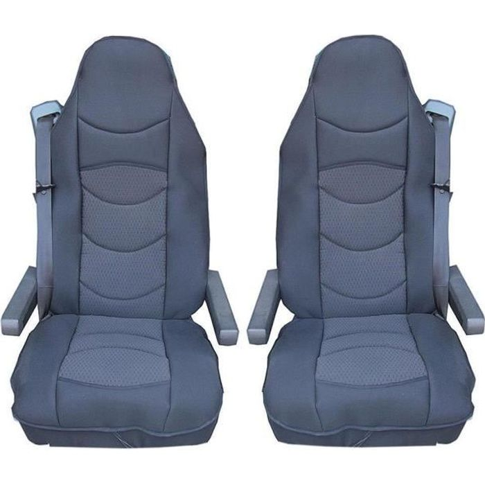 2 x LUXE HOUSSE COUVRE SIEGE COUVRE-SIEGE POUR MERCEDES ACTROS AXOR ATEGO