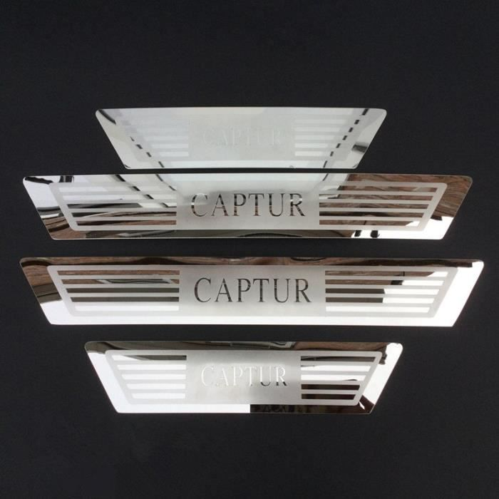 Autocollants de protection de seuil de plaque de seuil de porte, accessoires de style pour Renault CAPTUR KAPTUR 2013 2014 [2480F4B]