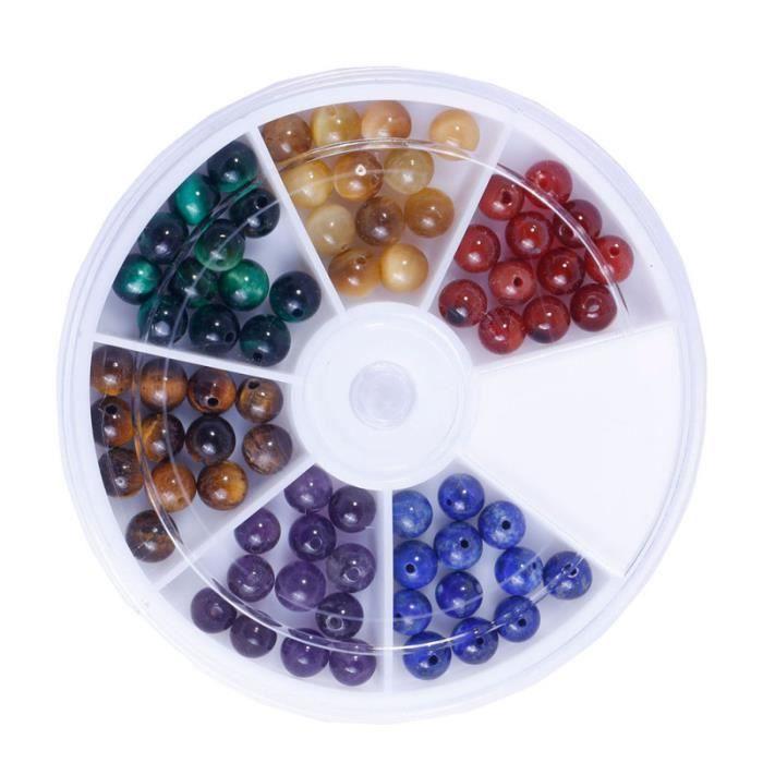 72PCS 6MM perles de pierre rondes d'espacement naturelles pour le bricolage PIERRE VENDUE SEULE