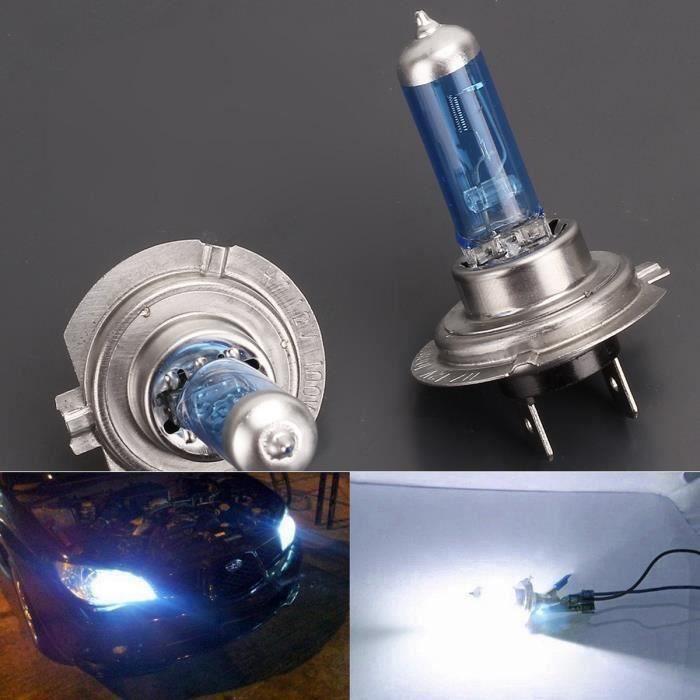 2x Halogène Ampoule Lumière Blanc Froid H7 6000K 100W DC 12V LED Lampe Light
