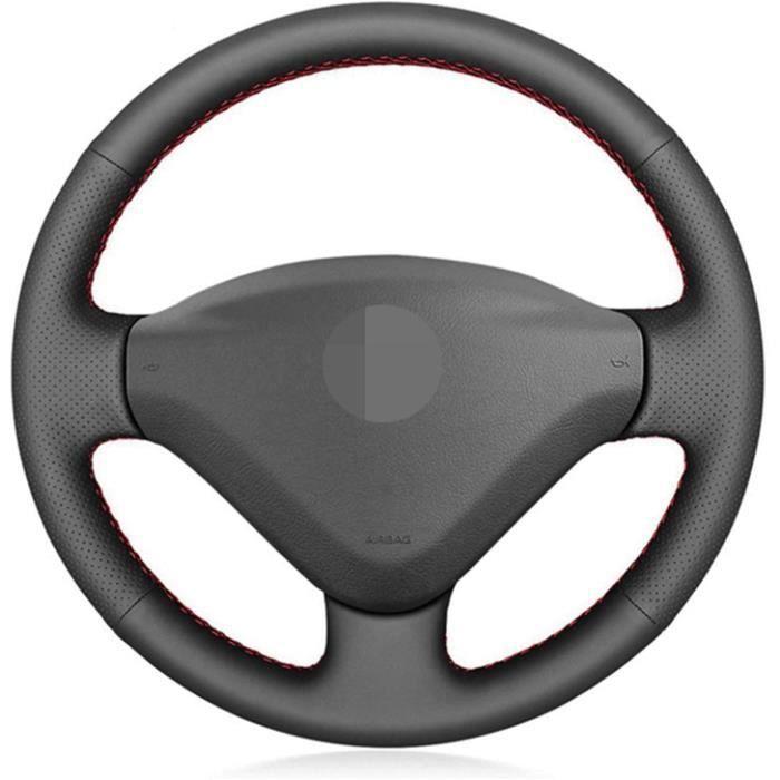 Couverture de volant de voiture en cuir artificiel. Pour Peugeot 207 2006 2014 Partner 2009 2018 Expert 2008 2016. Pour Fiat S 2329