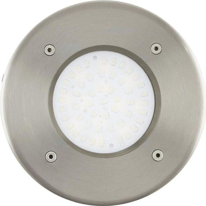 LAMEDO - Spot d'extérieur encastrable LED Blanc Chaud Nickel Ø10cm