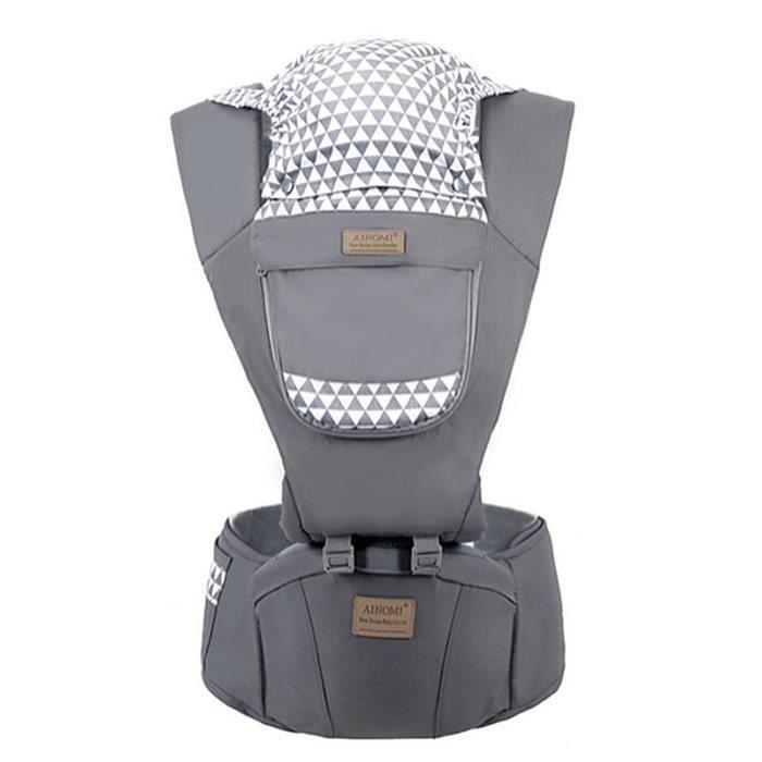 Porte bébé 0-36 mois Quatre saisons Coton gris Multifonction Sac de rangement pratique Économie du travail Confort et sécurité mode