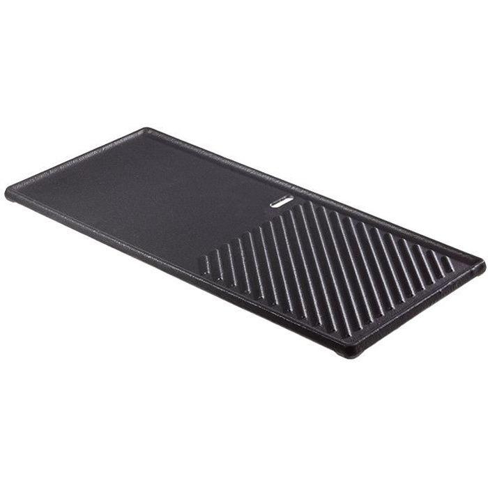 Enders emaillierte Plaque Fonte (1/3) pour Grill à gaz Boston, Noir, 20,5 x 43 x 1,5 cm, - 7882