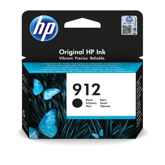 HP 912 Cartouche d'encre noire authentique (3YL80AE) pour HP OfficeJet Pro 8010 series / 8020 series