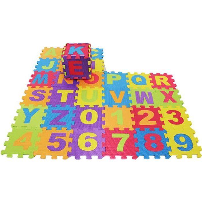 Kit de 36pcs Dalles Puzzle en Mousse Eva Tapis de Sol Souple Interlocking Tiles pour Enfant Bébé Kids Nursery 15x15cm