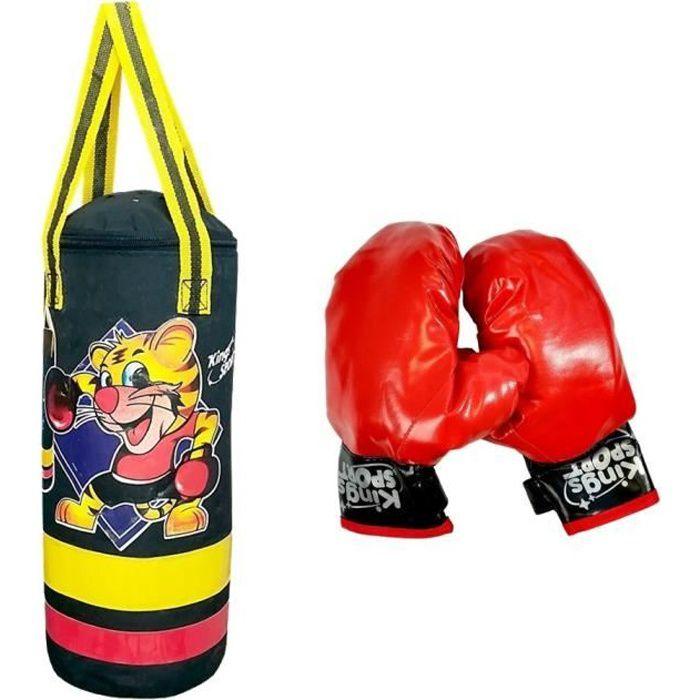 STAR BOXING Sac de frappe + gants de boxe enfant avec effets sonores