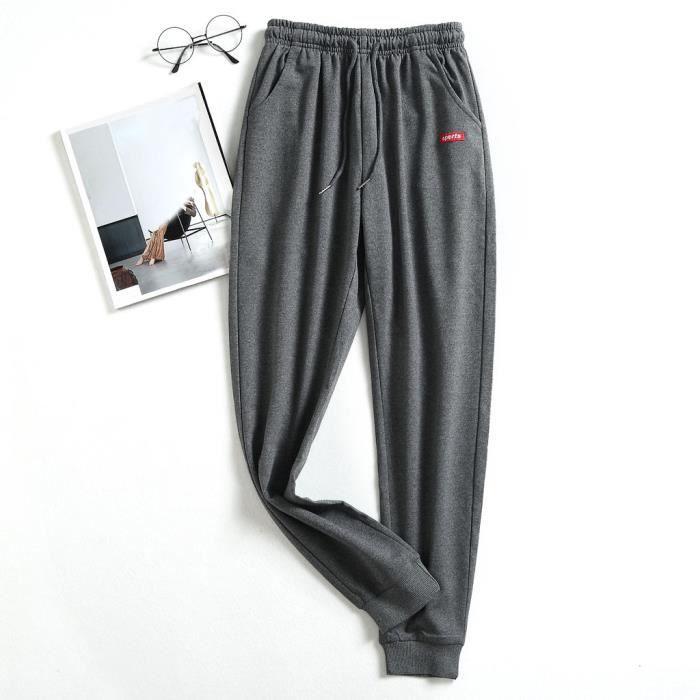 Pantalons de sport pour hommes Pantalons Hip Hop Jogging Joggers Pantalons de survêtement Jogger PantsGris
