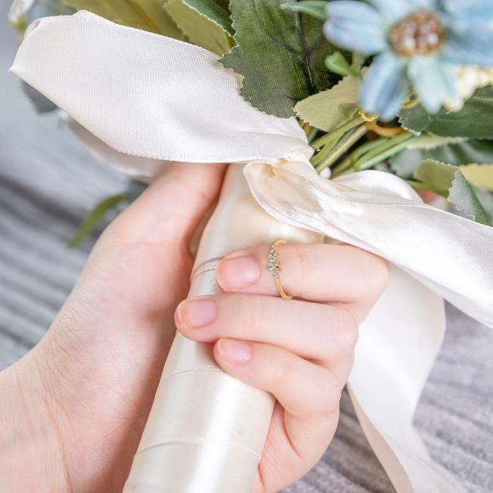 Anneau de mariage clouté blanc Anneaux Sterling Bijoux de mode pour femmes j895
