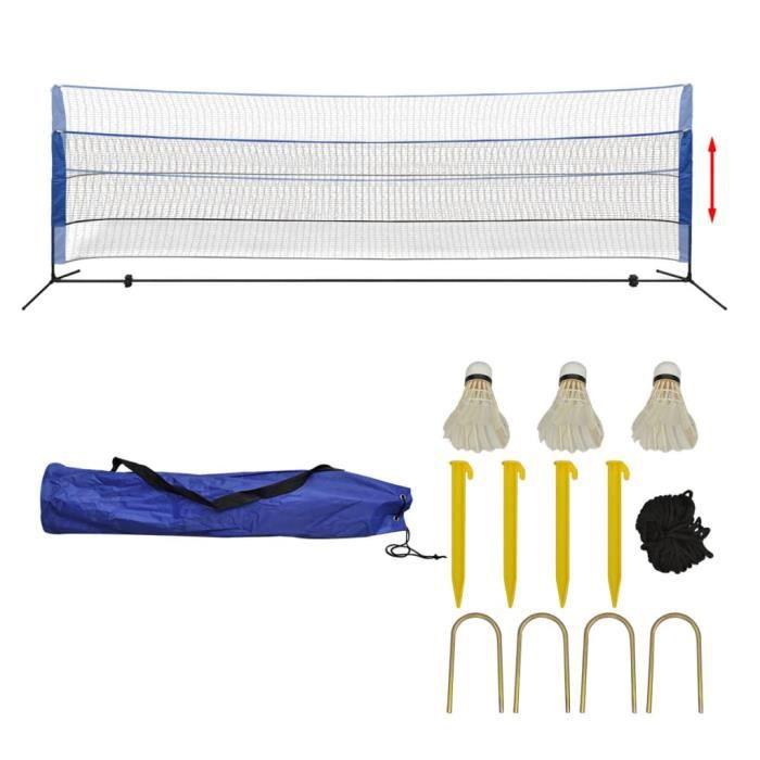 Filet de badminton-pour Sport Extérieur Jeux d'extérieur avec volants 500 x 155 cm