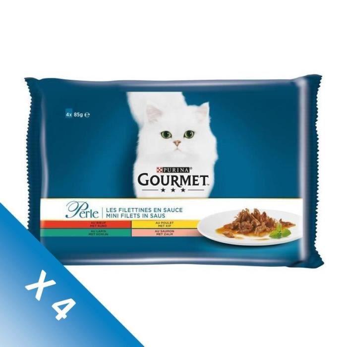 [LOT DE 4] GOURMET Aliment complet chat en sauce 4 x 85 g