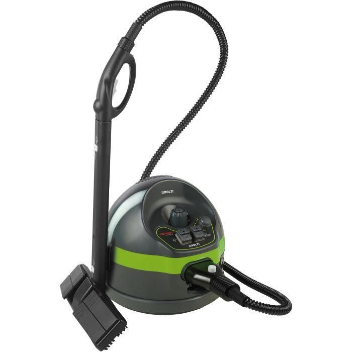 POLTI VAPORETTO CLASSIC 65 - Nettoyeur vapeur - autonomie limitée - 4 BAR - 110g/min - 1500W - 7 accessoires - Vert + Noir