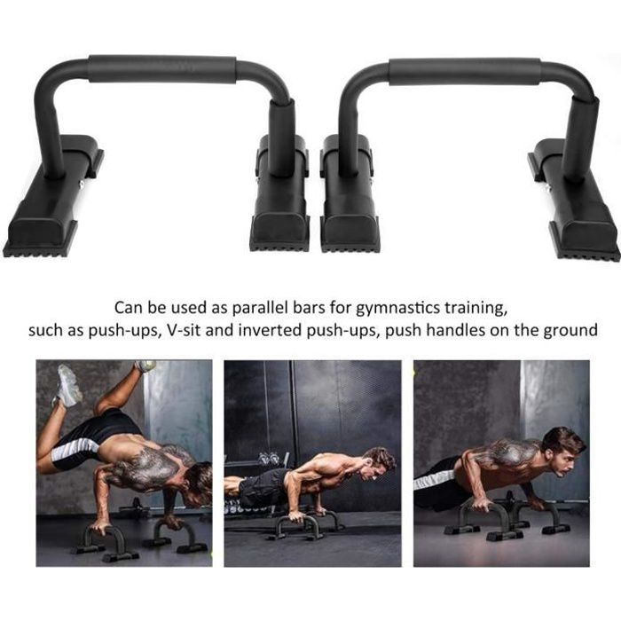 Barres de Push Up Ménage Push-Up Stands Bars Parallettes Set Workout Exercise Fitness Equipment -WEIR