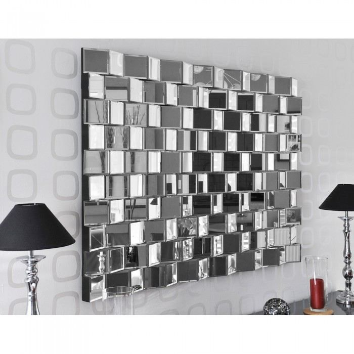 Grand miroir mural pour une d co l gante grand miroir for Miroir salon design pas cher