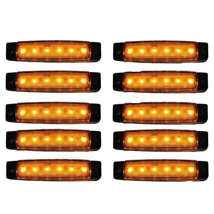 Camion 12v 6 Lateraux Orange Marqueur Indicateurs 10 Lampe Pcs Lumieres Led Remorque sxQdrhtC