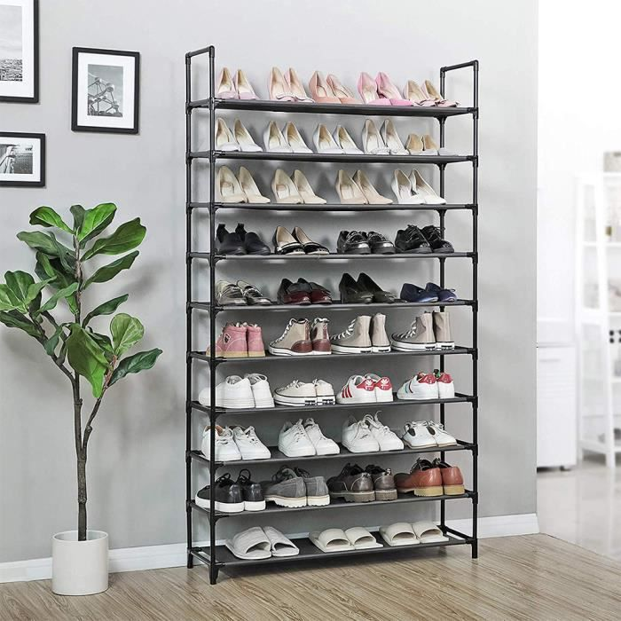 Etagere Range Chaussures 40 50 Paires Meuble Rangement Achat Vente Meuble A Chaussures Etagere Range Chaussures Cdiscount