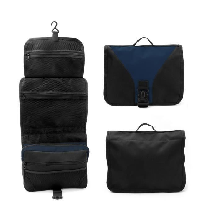 homme trousse de toilette sac de rangement voyage pochette maquillage bag noir achat vente. Black Bedroom Furniture Sets. Home Design Ideas