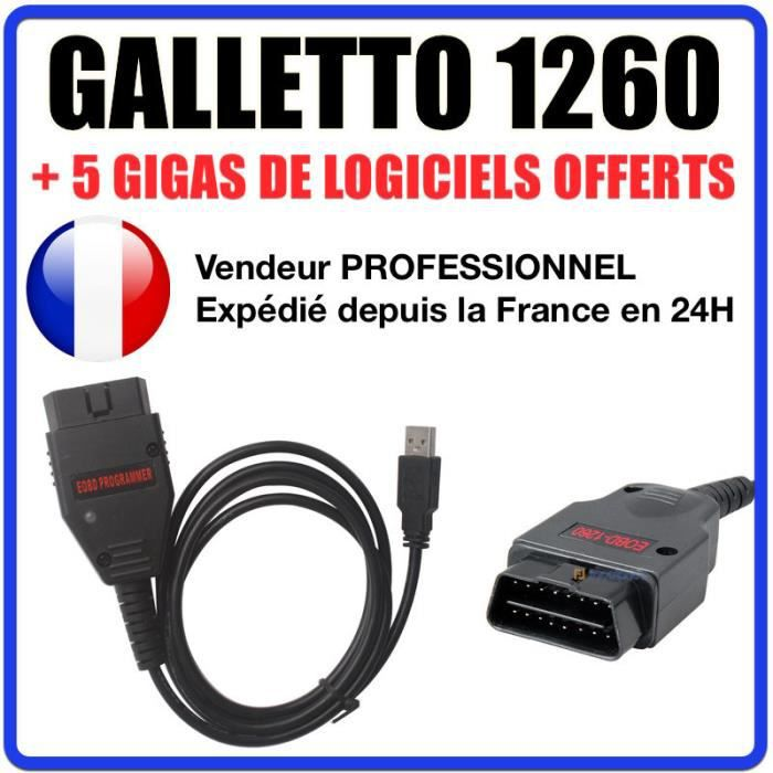 c ble interface galletto 1260 logiciels ecusafe immokiller flash obd achat vente. Black Bedroom Furniture Sets. Home Design Ideas