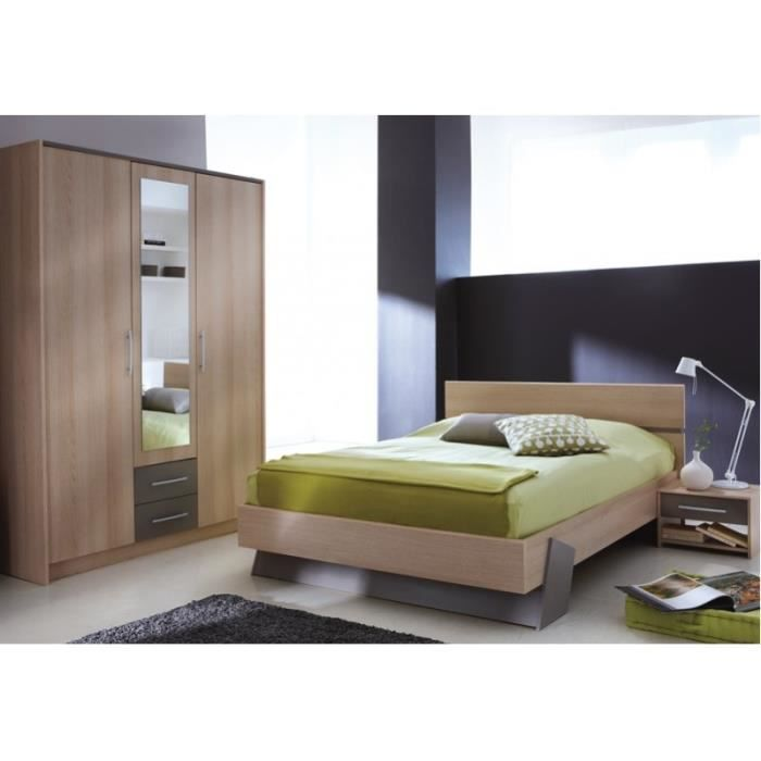 Chambre coucher adultes en ch ne urban achat vente for Chambres a coucher adultes completes