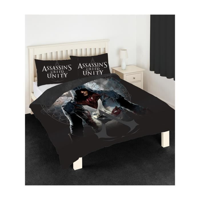 Assassin 39 s creed parure de lit 2 per lit 140 cm achat for Dimension housse de couette