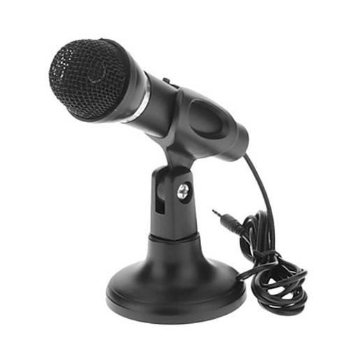 micro ou microphone original avec socle pour pc ou ordinateur micro karaok avec cou flexible. Black Bedroom Furniture Sets. Home Design Ideas