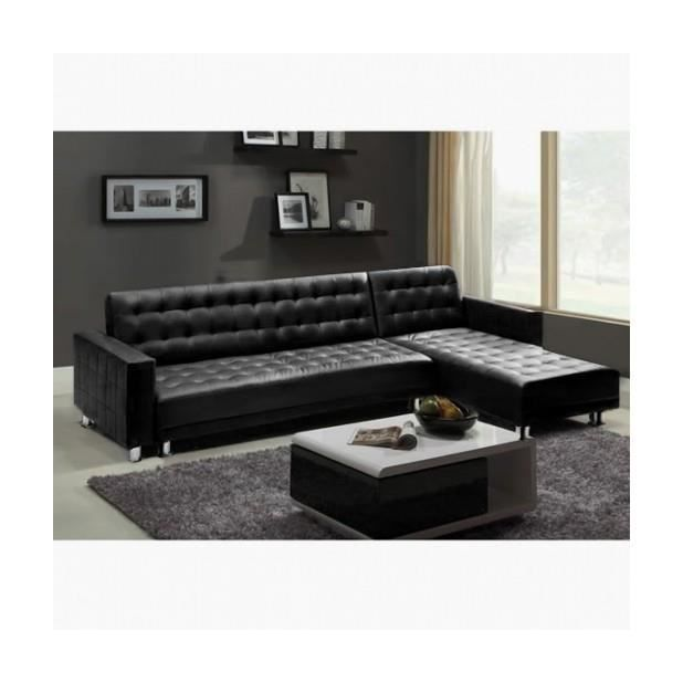 canape d 39 angle simili cuir pas cher. Black Bedroom Furniture Sets. Home Design Ideas