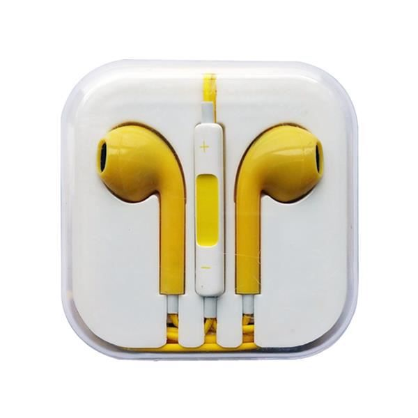 popcorn jaune couteurs earpods pour apple iphone ipod casque couteur audio avis et prix. Black Bedroom Furniture Sets. Home Design Ideas