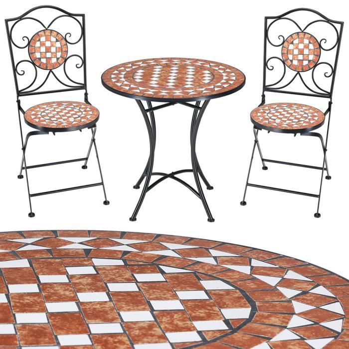 salon de jardin mosaique gernika 1 table 2 chaises achat vente salon de jardin salon de. Black Bedroom Furniture Sets. Home Design Ideas