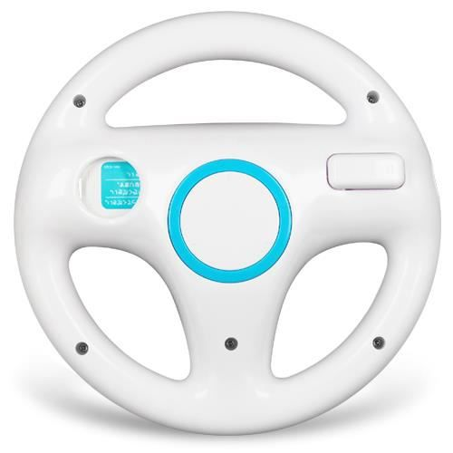 blanc volant sport steering wheel pour nintendo wii mario. Black Bedroom Furniture Sets. Home Design Ideas