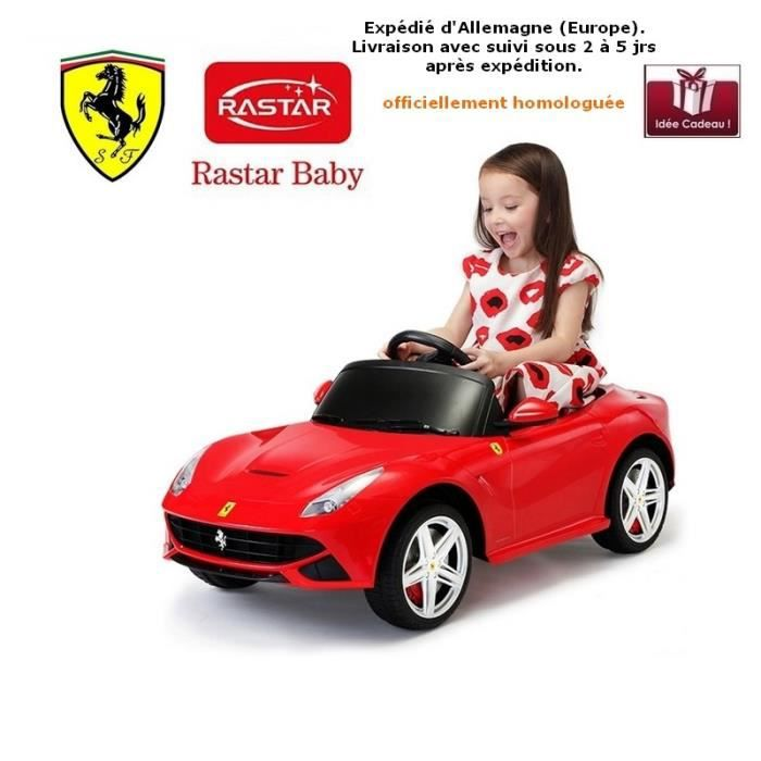 voiture lectrique 6v pour enfant ferrari f12 rouge rastar kids achat vente voiture. Black Bedroom Furniture Sets. Home Design Ideas