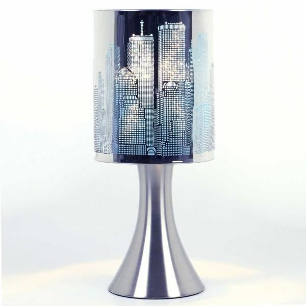 lampe touch new york city a variateur modele bleu achat. Black Bedroom Furniture Sets. Home Design Ideas