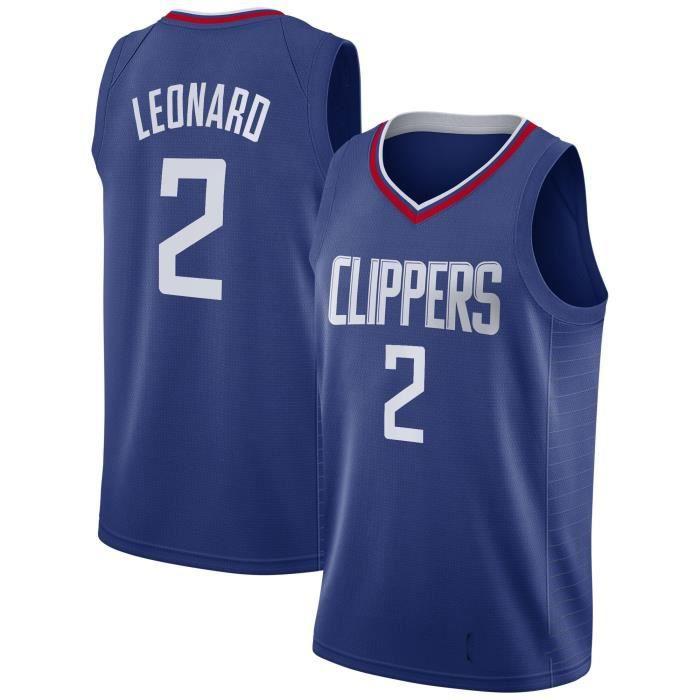Maillot de Basket Ball #2 Kawhi Leonard Los Angeles Clippers 2019 2020 Homme Basketball Pas Cher