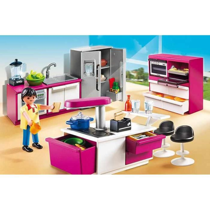 playmobil 5582 cuisine avec lot achat vente univers miniature cdiscount. Black Bedroom Furniture Sets. Home Design Ideas