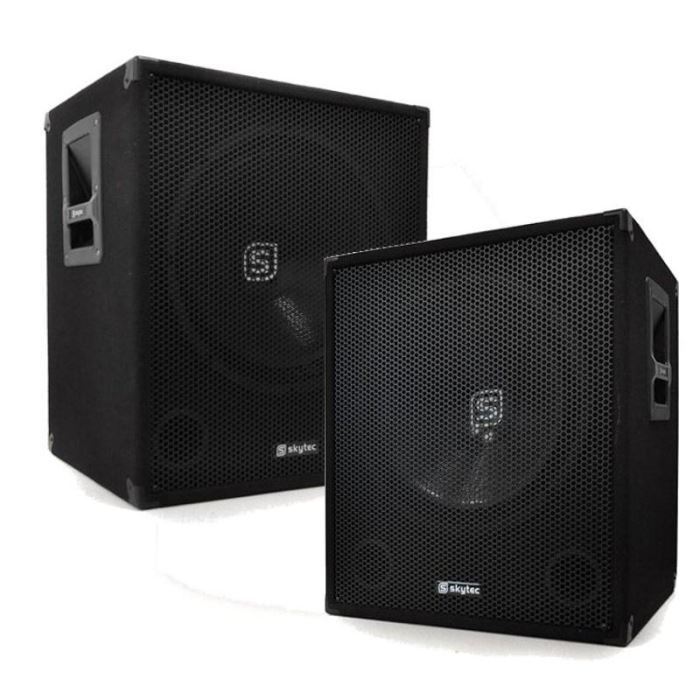 PACK SONO 2 x Subwoofer 2000W 46cm