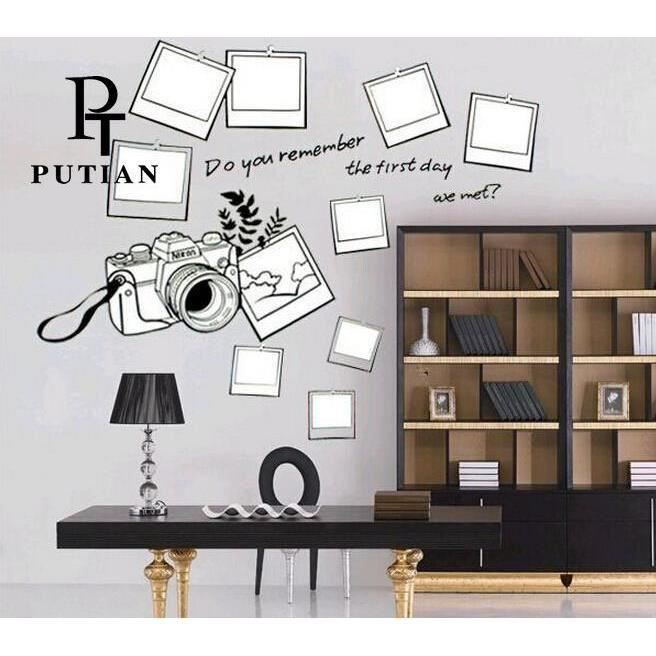 cadre photo classic vinyl decal stickers muraux pour le. Black Bedroom Furniture Sets. Home Design Ideas
