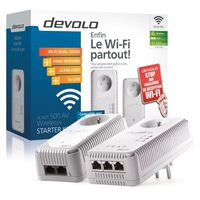 Adaptateur CPL DEVOLO DLAN 500 AV WIRELESS PLUS STARTER KIT 1829 BLANC