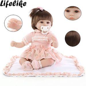 POUPON Poupée Reborn réaliste 45CM Baby Doll poupée en si
