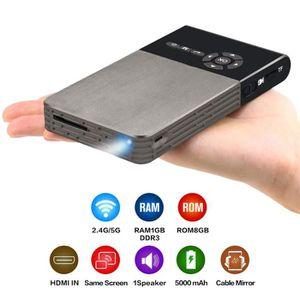 CÂBLE TV - VIDÉO - SON Smart DLP Mini Projecteur Android WiFi Bluetooth 1