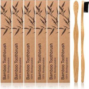 BROSSE A DENTS SuperLove® 2PCS Brosse à dents en bambou doux aux