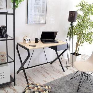 SECRÉTAIRE Bureau design - DESIGNO - 105 cm - effet chêne / n