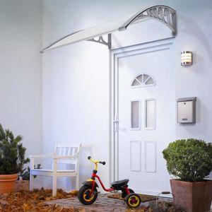 MARQUISE - AUVENT 80*120 cm Auvent - Marquise de porte en polycarbon