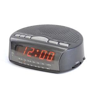 Radio réveil AM - FM Radio de Chevet Réveil Matin - Alimenté pa