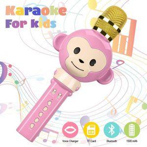 MICROPHONE - ACCESSOIRE Microphone Karaoke,3 en 1 Micro Karaoke sans Fil B