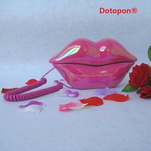 Téléphone fixe Dotopon®(pink)Creative Forme Lip Bouche RJ11 combi