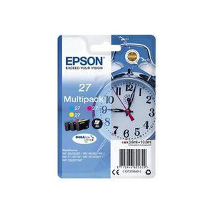 CARTOUCHE IMPRIMANTE EPSON Multipack T2705 - Réveil - Cyan, Magenta, Ja